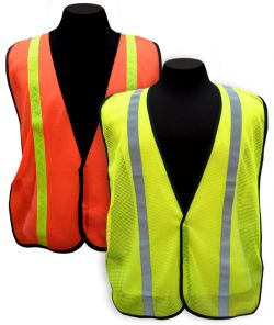 Mesh Safety Vest w/ Reflective – Lime