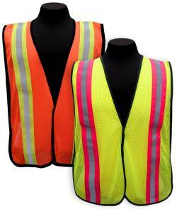 Mesh Vest w/Contrasting Stripes