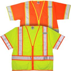 ANSI Class III Safety Vest - Lime & Orange