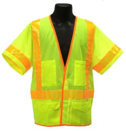ANSI Class III Safety Vest - Lime - Front