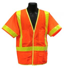 ANSI Class III Safety Vest - Orange - Front