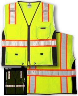 ANSI Class 2 Safety Vest - Heavy Duty - Lime