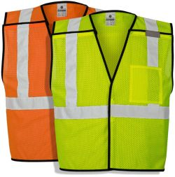 Economy ML Kishigo ANSI Class 2 Mesh Breakaway Safety Vest with Pocket