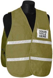 Incident Command Vest (PolyCotton) - Tan - Item # 2506