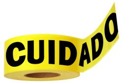 CLOSE OUT - Standard Tape (Caution Cuidado)