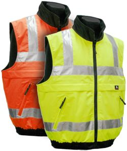 ANSI Class 2 Fleece Lined Reversible Vests