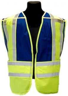 CLOSE OUT - Blue Public Safety Vest | Size: 2XL/4XL
