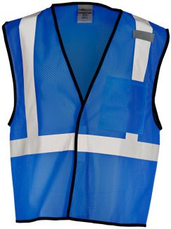 Enhanced Visibility Single Pocket Mesh Vest (12 Colors)