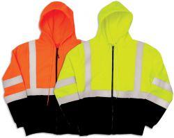 JS102 Lime- JS103 Orange - Hoodie front
