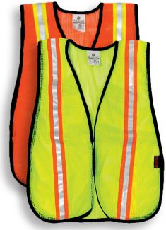 Mesh Vest w/Contrasting Stripes - S/M