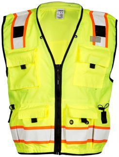 Kishigo S5000 | S5001 Class 2 Multi-Pocket Professional Surveyors Vest with Zipper Front Closure