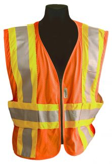 CLOSE OUT - ANSI Class II Expandable Safety Vest - Size 3X/4X)