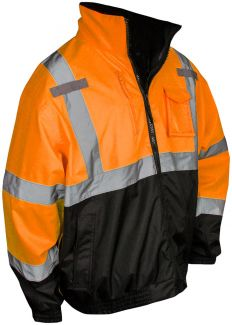 SJ210B-3ZOS Bomber Jacket Fleece Orange - Front