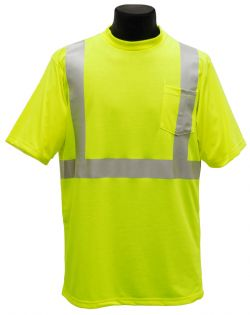 ANSI Class II T-Shirt - Lime - Front
