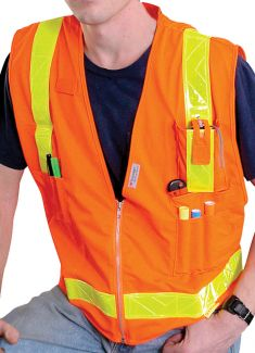 CLOSE OUT - ANSI Class II Multi-Pocket Safety Vest - Size 5XL