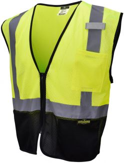 Radians Economical Black Bottom Hi Vis ANSI Class 2 Safety Vest