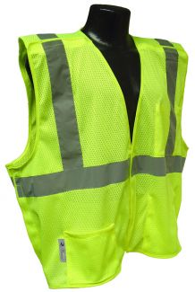 ANSI Class II Breakaway Vest -  Lime - Front