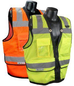 ANSI Class II - Heavy Duty Safety Vest -Zipper