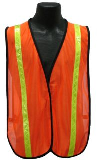 Tight Mesh Safety Vest - Orange – Front
