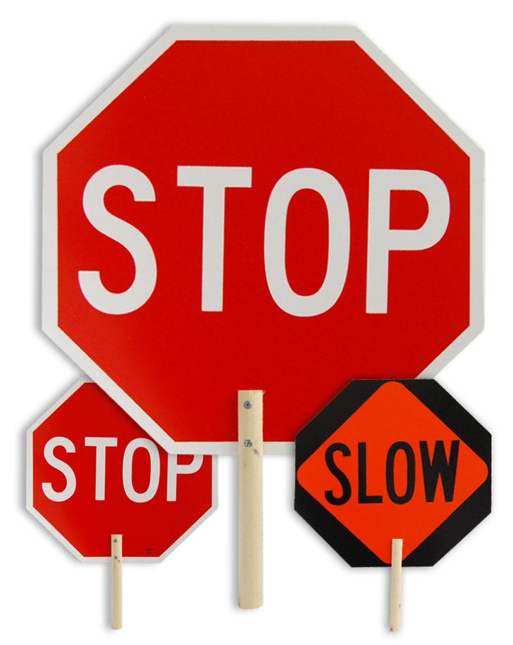 Handheld Stop Signs
