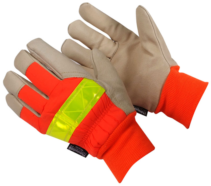 Hi Viz Work Gloves